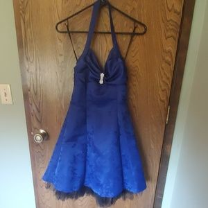Perfect condition navy blue/black dress worn 1